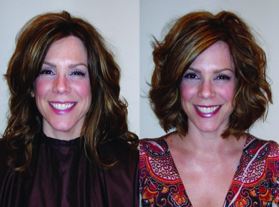 Short Tousled Bob with Carmel Highlights
