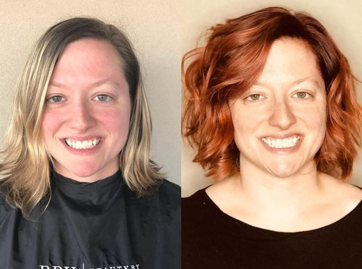 Redhead color and cut transformation – by Veronica