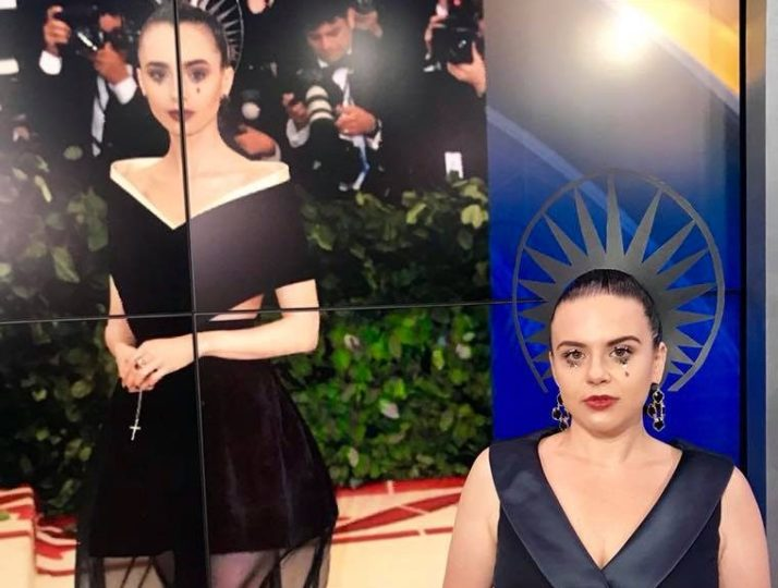 Fox 10 Phoenix – Met Ball recreation, Lily Collins