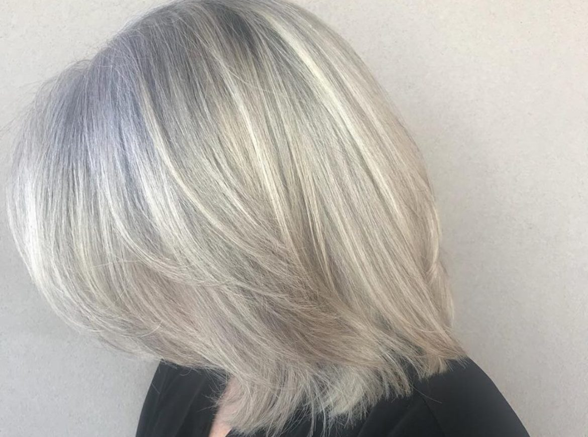 Icy color and long layered cut – by Analisa and Mauricio